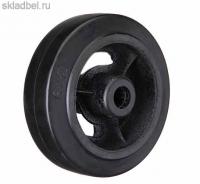 Колесо большегрузное на черной резине без опоры D 85