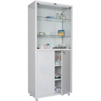 Медицинский шкаф двухстворчатый HILFE МД 2 1780/SG